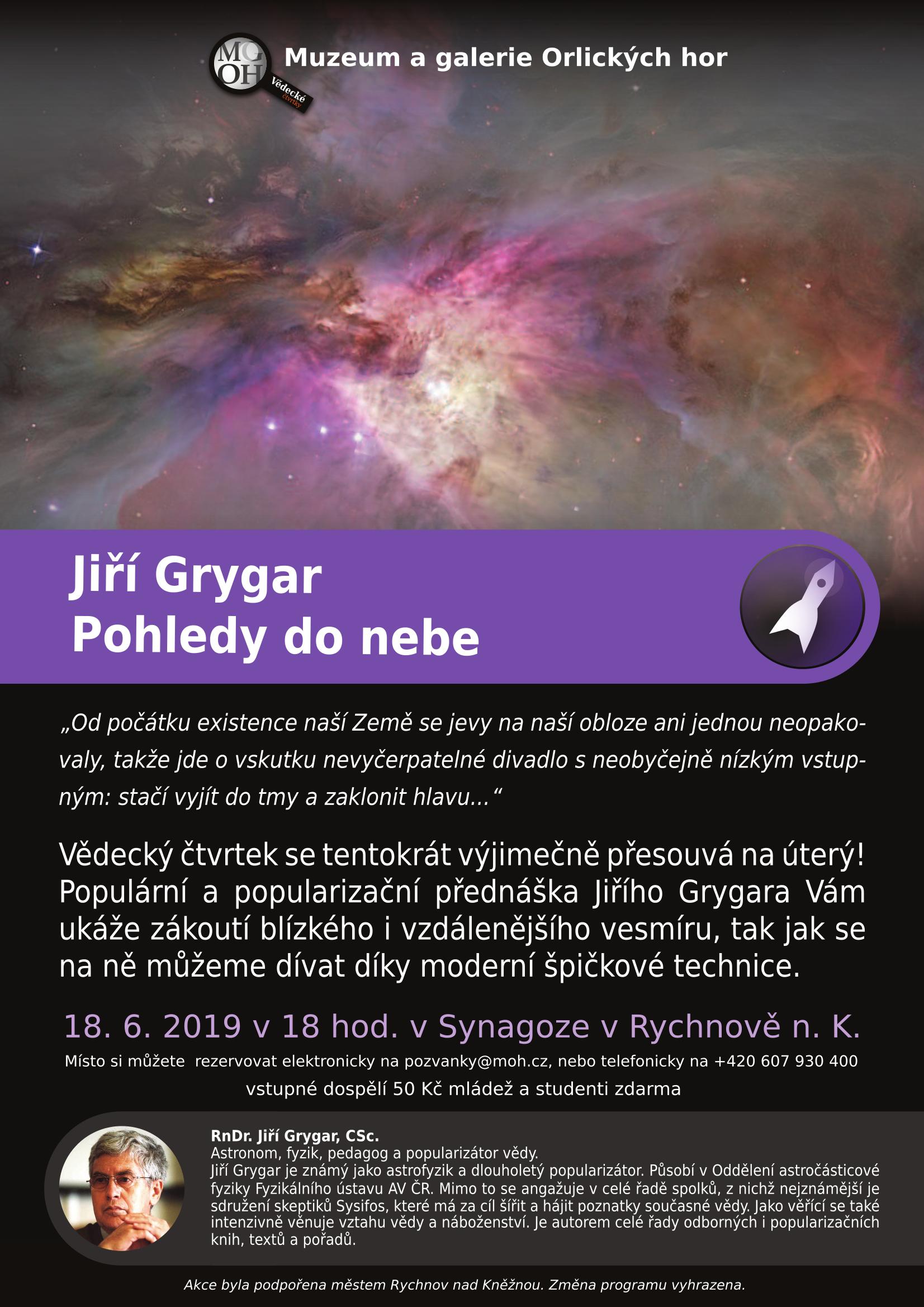 JIŘÍ GRYGAR - POHLEDY DO NEBE 18.6.2019